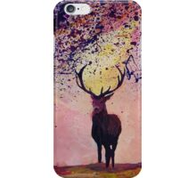 Deer coming from the glades - Style II iPhone Case/Skin