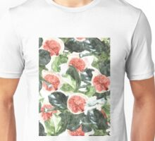 Watercolor Figs & Leaves #redbubble #style #fashion #home Unisex T-Shirt