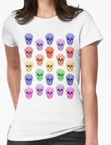 Skull Rainbow Womens Fitted T-Shirt