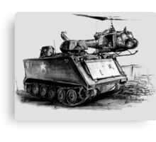 M113 and UH1 Canvas Print