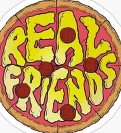 Real Friends Pizza Logo Sticker