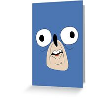 Sonic retarded face Greeting Card