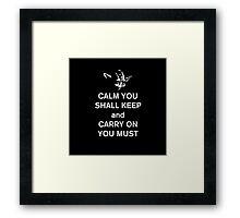 yoda keep calm Framed Print