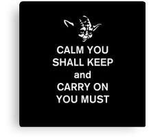 yoda keep calm Canvas Print