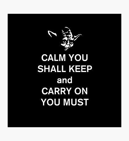 yoda keep calm Photographic Print