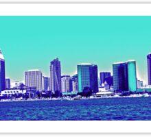 San Diego Skyline Blue Sticker