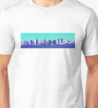 San Diego Skyline Blue Unisex T-Shirt