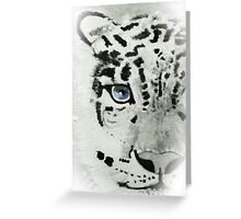 Staring Snow Leopard Greeting Card