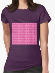 Wild Roses With Garden Background Abstract Womens Fitted T-Shirt
