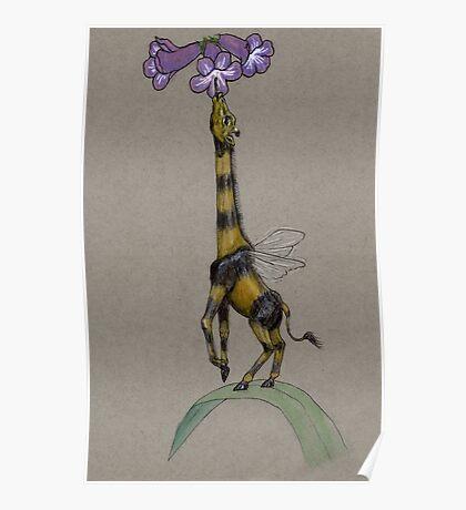 Bumble Giraffe Poster