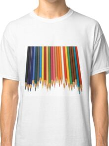 Coloured Pencils Isolated On White Classic T-Shirt