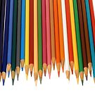 Coloured Pencils Isolated On White by taiche