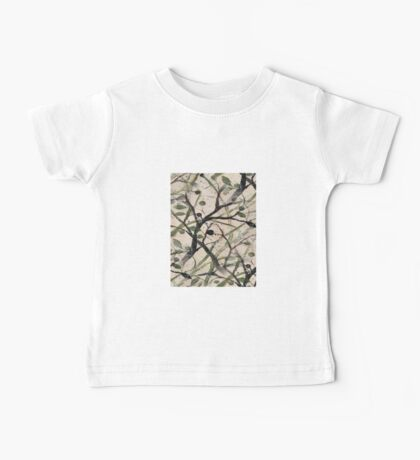 Black And Green Olive Tree Digital Abstract Baby Tee