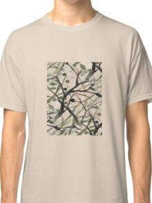 Black And Green Olive Tree Digital Abstract Classic T-Shirt