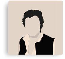 Silhouette Han Solo Canvas Print