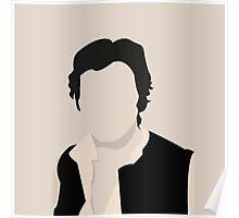 Silhouette Han Solo Poster