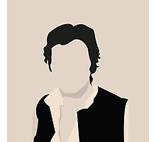 Silhouette Han Solo Photographic Print