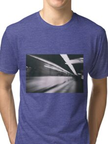 Train photo design by LUCILLE Tri-blend T-Shirt