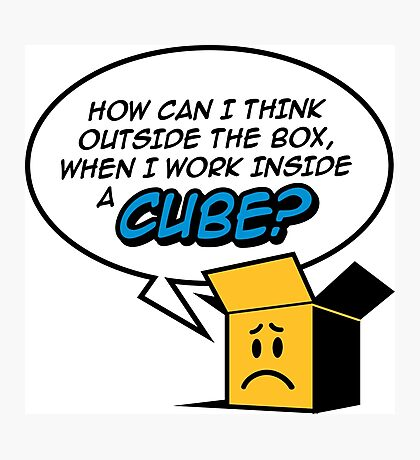 I work in a cube Photographic Print