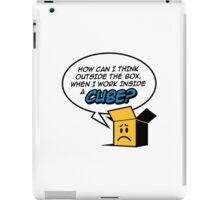 I work in a cube iPad Case/Skin