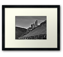 Castle and Vineyard On The Rhine River Germany Framed Print