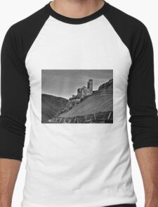 Castle and Vineyard On The Rhine River Germany Men's Baseball ¾ T-Shirt