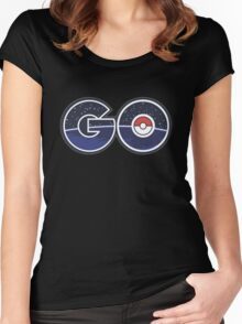 pokemon go real word Women's Fitted Scoop T-Shirt