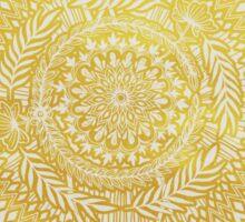 Medallion Pattern in Mustard and Cream Sticker