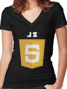 javascript computer Women's Fitted V-Neck T-Shirt