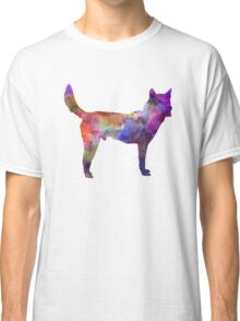 Korea Jindo Dog in watercolor Classic T-Shirt