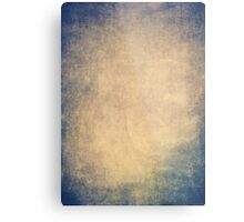 Blue and orange romantic grungy background texture with scratches Metal Print