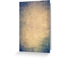 Blue and orange romantic grungy background texture with scratches Greeting Card