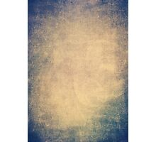 Blue and orange romantic grungy background texture with scratches Photographic Print