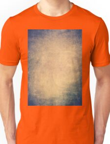 Blue and orange romantic grungy background texture with scratches Unisex T-Shirt