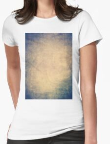 Blue and orange romantic grungy background texture with scratches Womens Fitted T-Shirt