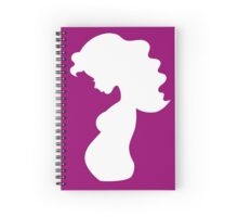 Pregnant woman silhouette Spiral Notebook