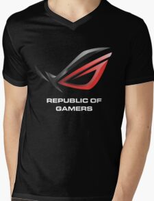 asus republic of gamers Mens V-Neck T-Shirt