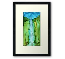 Take The Plunge - Abstract Waterfall Framed Print