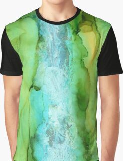 Take The Plunge - Abstract Waterfall Graphic T-Shirt