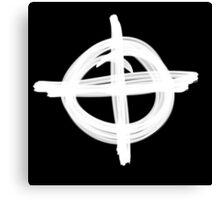 Zodiac Symbol - Inverted Colours Canvas Print