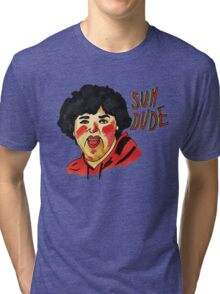 'SUH DUDE' LINE DRAWING NICK COLLETTI Tri-blend T-Shirt