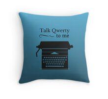 Funny Geeky Typewriter Throw Pillow