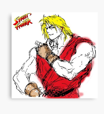 Streetfighter Ken Canvas Print