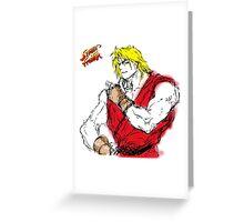 Streetfighter Ken Greeting Card