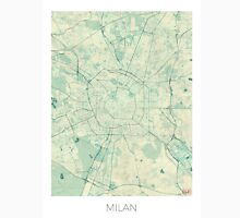 Milan Map Blue Vintage Unisex T-Shirt