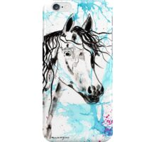 Abstract Ink - Black Arab Horse iPhone Case/Skin