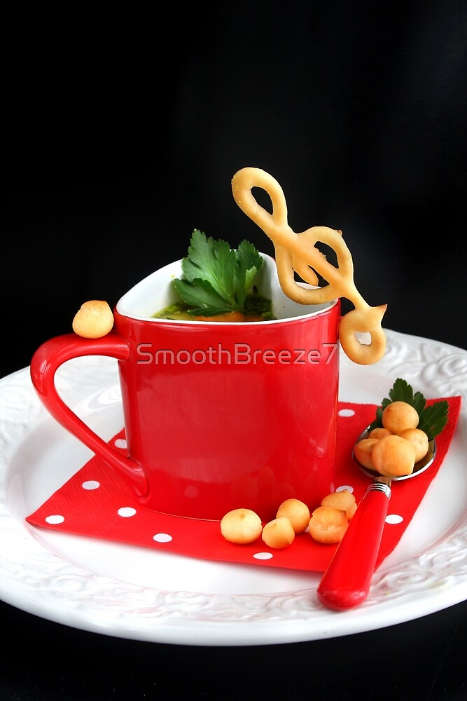 That's Music to My Taste | Soup with Choux Pastry Clef by SmoothBreeze7