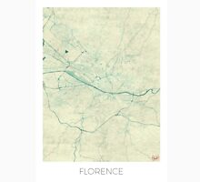 Florence Map Blue Vintage Unisex T-Shirt