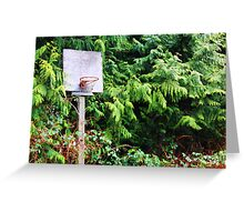Basketball Forrest Greeting Card