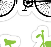 Green and black bikes Sticker